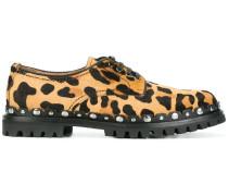 Derby-Schuhe mit Animal-Print
