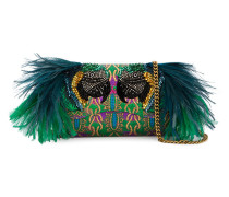 Small Broadway Evening Bag with Feather Embellishment