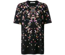 T-Shirt mit Veilchen-Print