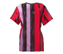 T-Shirt mit Streifeneinsätzen