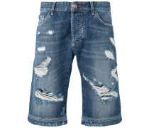 - Jeans-Shorts mit Ledertaschen - men