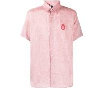 Hemd mit Wappenstickerei