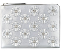 Clutch mit floraler Applikation
