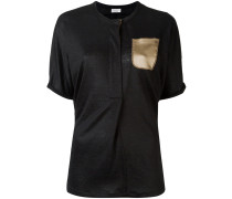 Leinen-T-Shirt mit Seidentasche