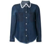 Jeans-Hemd mit Spitzenkragen