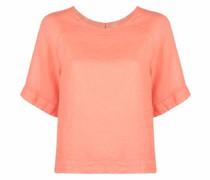 Leinen-T-Shirt mit rundem Ausschnitt