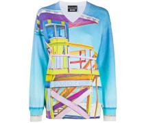 Pullover mit Strand-Print