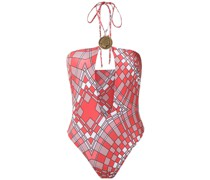 Badeanzug mit geometrischem Print