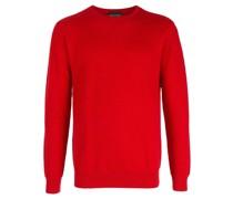 textured round-neck jumper