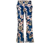 Hose mit floralem Print - women - Polyester - 44
