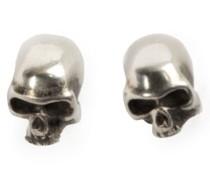 Totenkopf-Ohrringe aus Silber