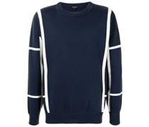 Gestrickter Pullover mit Streifen