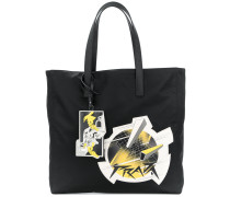 planet patch tote bag