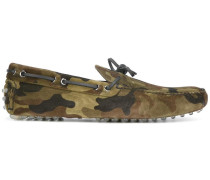 Penny-Loafer mit Camouflage-Print