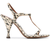 Sandalen mit Schlangenleder-Optik