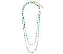 Halskette mit Steinperlen