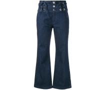 Cropped-Jeans mit Schnürung - women