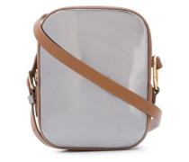 metallic pocket crossbody bag