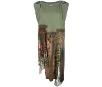 Asymmetrisches Kleid mit Patchwork-Optik