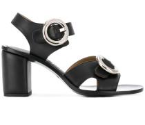Sandalen mit runder Schnalle - women - Leder