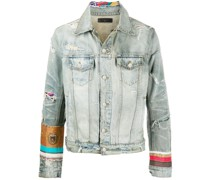 scarves trucker denim jacket