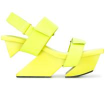 Plateau-Sandalen mit Design-Absatz