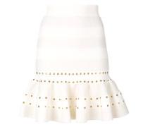 fluted mini skirt