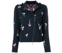 embroidered biker jacket