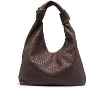 Knots large woven leather tote bag
