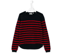Teen striped knitted sweater