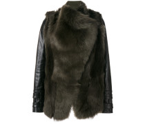 panelled fur jacket