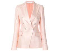 V-neck fitted blazer