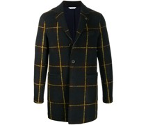 button-up check coat