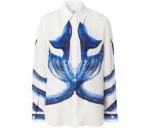 Bluse mit Meerjungfrauen-Print