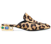 Mules mit Leoparden-Print