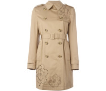 Trenchcoat mit Stickerei