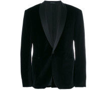 satin trim velvet jacket