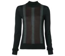 striped front slim-fit jumper