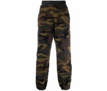 Fleece-Hose mit Camouflage-Print