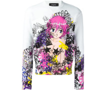 Sweatshirt mit Cartoon-Print - men - Baumwolle
