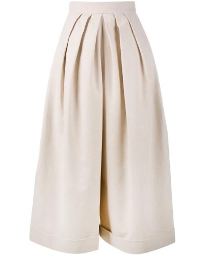 Cropped-Hose mit Bundfalten