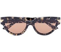 Karierte Cat-Eye-Sonnenbrille