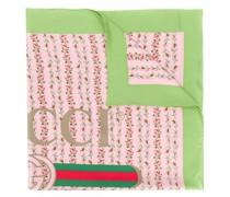 Halstuch aus Seide mit  Logo-Rosen-Print