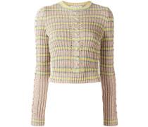 Lurex-Pullover mit Zopfmuster