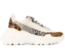 Sneakers mit Schlangenleder-Print