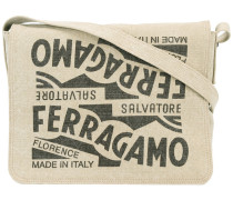 logo printed messenger bag