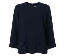flap detail blouse