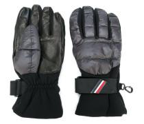 padded logo plaque gloves