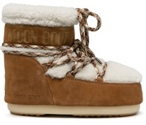 shearling-trim snow boots