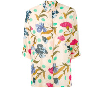 Kastiges Hemd mit floralem Print - women